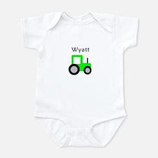 Wyatt - Lime Green Tractor Onesie