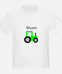 Wyatt - Lime Green Tractor T-Shirt