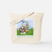 Shih Tzu Spring Bluebird Meiko Tote Bag