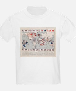 Vintage British Empire World Map (1910) T-Shirt