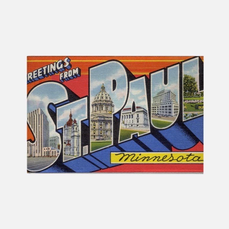 Greetings from St. Paul Rectangle Magnet (10 pack)