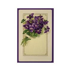 Bouquet of Violets Rectangle Magnet (100 pack)