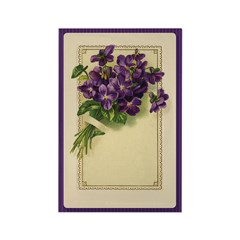 Bouquet of Violets Rectangle Magnet (10 pack)