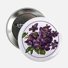 """Bouquet of Violets 2.25"""" Button"""