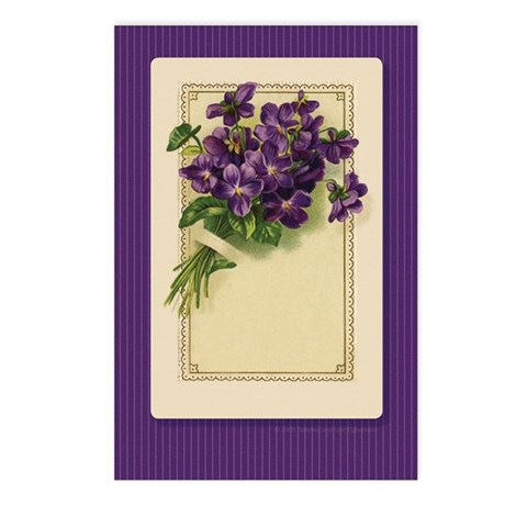 Bouquet of Violets Postcards (Package of 8)