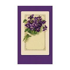 Bouquet of Violets Rectangle Sticker 50 pk)