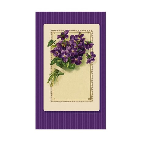Bouquet of Violets Rectangle Sticker