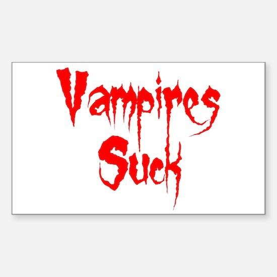 Vampires Suck Rectangle Decal