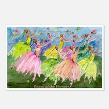 Dance Of Flowers Postcards (Package of 8)