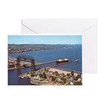 Duluth Harbor Greeting Card