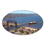 Duluth Harbor Oval Sticker (10 pk)