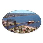 Duluth Harbor Oval Sticker