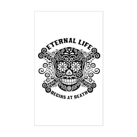 Eternal Life begins Rectangle Sticker