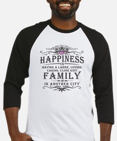 Happiness Family Crest Baseball Jersey