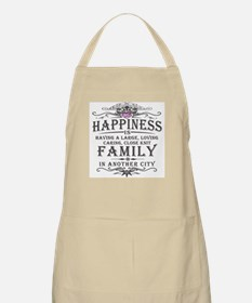 Happiness Family Crest BBQ Apron