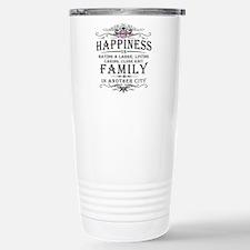 Happiness Family Crest Travel Mug