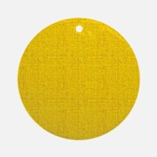 Gold Linen Look Ornament (Round)