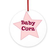 Baby Cora Ornament (Round)