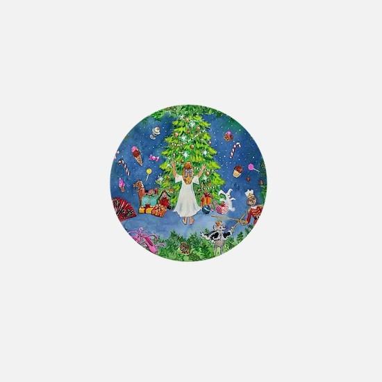 Nutcracker Christmas Ballet Mini Button