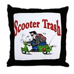 Scooter Trash Throw Pillow