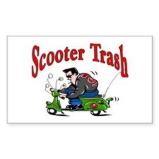 Scooter Trash Rectangle Decal