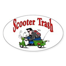 Scooter Trash Oval Decal