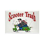 Scooter Trash Rectangle Magnet