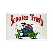 Scooter Trash Rectangle Magnet