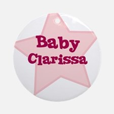 Baby Clarissa Ornament (Round)