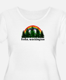 Forks, Washington Vintage Rai T-Shirt