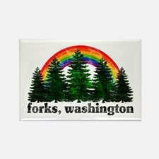 Forks, Washington Vintage Rai Rectangle Magnet