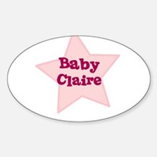 Baby Claire Oval Decal