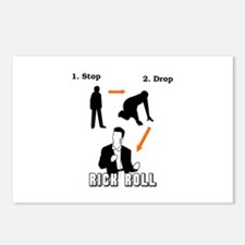 """Stop, Drop, Rick Roll"" Postcards (Package of 8)"
