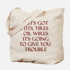 Tits Tires or Wires Tote Bag