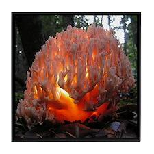 Coral Fungus Mushroom Tile Coaster