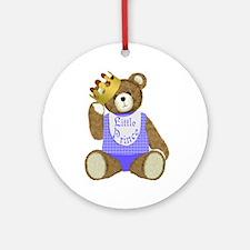 Little Prince Teddy Bear Ornament (Round)