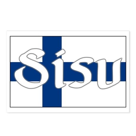 Finnish Sisu (Finnish Flag) Postcards (Package of