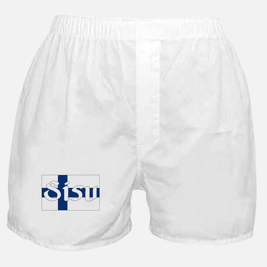 Finnish Sisu (Finnish Flag) Boxer Shorts