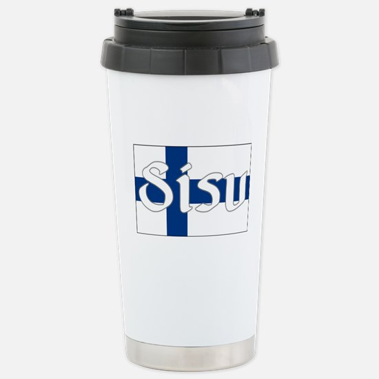 Finnish Sisu (Finnish Flag) Stainless Steel Travel
