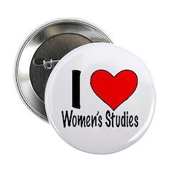 """I heart women's studies 2.25"""" Button (100 pac"""