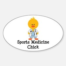 Sports Medicine Chick Oval Decal