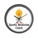 Sports Medicine Chick Wall Clock