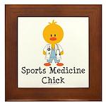 Sports Medicine Chick Framed Tile