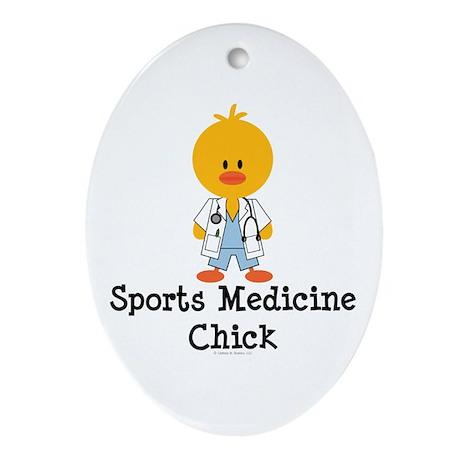 Sports Medicine Chick Oval Ornament