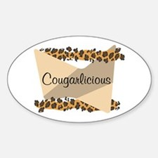 Cougarlicious Oval Decal