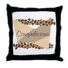 Cougarlicious Throw Pillow