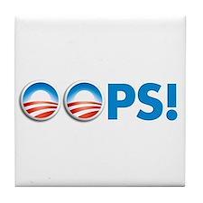 oops obama Tile Coaster
