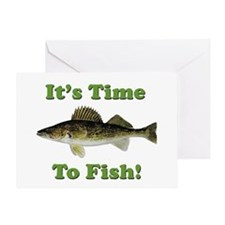 "Genuine Walleye ""It's Time to Fish"" Greeting Card"