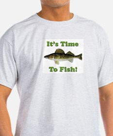 """Genuine Walleye """"It's Time to Fish"""" T-Shirt"""