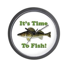 "Genuine Walleye ""It's Time to Fish"" Wall Clock"